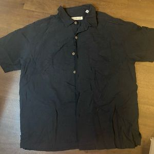 Black Tommy Bahama Silk Shirt - XL